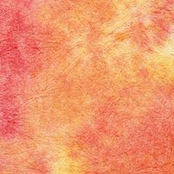 "Thai Sheer Watercolor Momi – Orange/Red 23x34"" Sheet"
