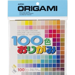 Aitoh Origami 100 Color Pack - 100 Sheets/Pkg