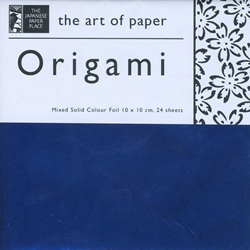 Mixed Solid Color Foil 24 Sheet Pack of Origami