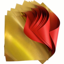 Double Sided Gold Foil/Red Paper Origami (6 inch, 10 sheets)