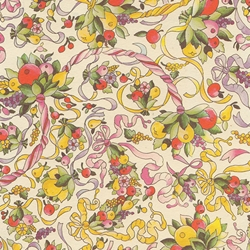 Carta Varese Florentine Paper- Fruit and Ribbons 19x27 Inch Sheet