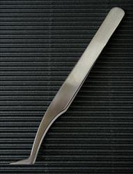"Stainless Steel 4.5"" Angled Needle Point Tweezers"