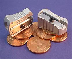 Pack of 2 Cast Metal Pencil Sharpeners