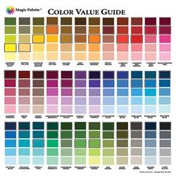 value chart mixing paint palette guide colors magic colour duracoat artist artists glo jet values sherwin paints williams wheel painting