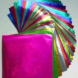 "Color Foil Origami - 36 Sheets; 4.5"" Square"