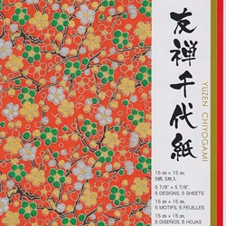 Amazon.com: Yuzen Washi Chiyogami Origami Paper 15cm 5 sheets #3245 | 250x250