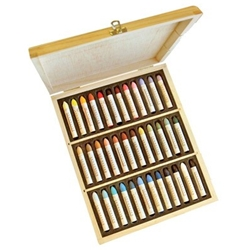 Sennelier Grand Oil Pastel Wood Box Set of 36