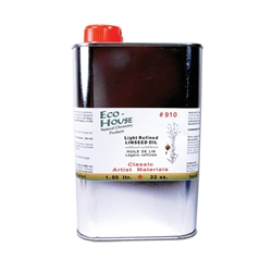 Eco-House Refined Linseed Stand Oil - 32oz Can