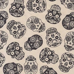Sugar Skull Printed Paper from Nepal