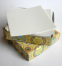 "Box of 100 4.75""x4.75"" Cards"