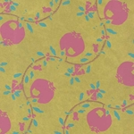 """NEW!"" Pomegranate Prints on Mulberry"