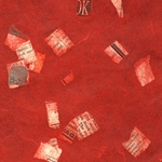 Confetti Newspaper on Red - 25x37 Inch Sheet