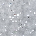 Newspaper Confetti on White - 25x37 Inch Sheet
