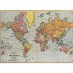"Cavallini Decorative Paper - World Map #1 20""x28"" Sheet"