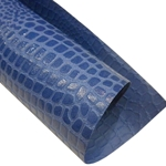 "Crocodile Embossed Paper- Blue 22x30"" Sheet"