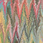 Stephen Pittelkow Hand Marbled Paper- Pattern #1