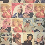 "Rossi Decorated Papers from Italy - Fashion Hats 1930's 28""x40"" Sheet"