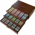 Daler-Rowney Soft Pastels - Complete Collection of 180 Pastels in a Wooden Box