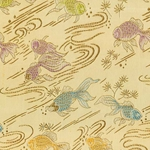 "Chinese Brocade Paper- Goldfish on Gold 26x16.75"" Sheet"