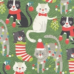 "Holiday Cats 19x26"" Sheet"