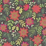 "Mistletoe, Pine, Poinsettia, and Holly Collage 19x26"" Sheet"