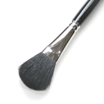 Silver Brush - Goat Hair Silver Mop - Black Oval Mop