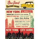 "Cavallini Decorative Paper - New York City Visitor's Guide 20""x28"" Sheet"