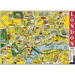 "Cavallini Decorative Paper - Map of London 20""x28"" Sheet"
