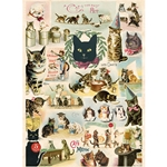 "Cavallini Decorative Paper - Cat Collage 20""x28"" Sheet"