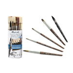 Raphael Travel Brush Set with Bamboo Roll-Up