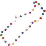 Decorative Felt Garland- Assorted Colors Large Pom Poms