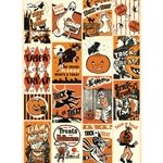 "Cavallini Decorative Paper - Trick or Treat 20""x28"" Sheet"