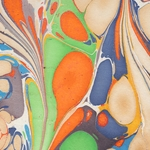 "Marbled Paper from India- Multicolor Butterfly Wings 22x30"" Sheet"