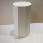 Plaster Cast 8 Sided Cylinder Geometric Shape