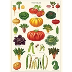 "Cavallini Decorative Paper - Vegetable Garden 20""x28"" Sheet"