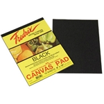 Fredrix Black Real Canvas Pad