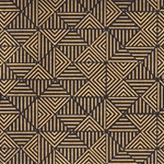 Broken Triangles Op Art (Optical Illusion) Paper- Gold on Black