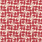 "Olive Sprigs- Red on Cream 22x30"" Sheet"