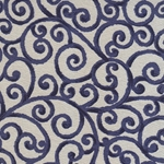 "Blue Scrolls on Taupe 21x31"" Sheet"