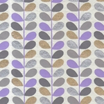 "Beanstalk Printed Paper from India- Lavender, Gray, Gold, & Silver on White 22x30"" Sheet"