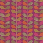 "Beanstalk Printed Paper from India- Orange, Pink, Tan, & Gold on Magenta 22x30"" Sheet"
