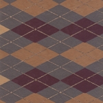 "India Screen Printed Papers - Brown Argyle on Gray Paper 22""x30"" Sheet"