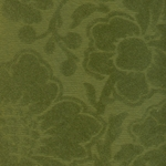 Printed Cotton Paper from India- Green Flocked Floral on Green Paper 22x30 Inch Sheet