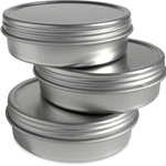 Enkaustikos 2oz Empty Metal Tin With Lid (3 pack)