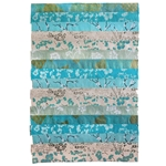 "Nepalese Striped Collage Paper- Turquoise Print Collage 20x30"" Sheet"