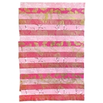 "Nepalese Striped Collage Paper- Magenta and Pink Print Collage 20x30"" Sheet"