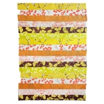 "Nepalese Striped Collage Paper- Yellow and Orange Print Collage 20x30"" Sheet"