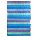 "Nepalese Striped Collage Paper- Shades of Blue/Violet Collage 20x30"" Sheet"