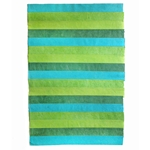 "Nepalese Striped Collage Paper- Shades of Green Collage 20x30"" Sheet"
