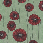 Nepalese Printed Paper- Poppies